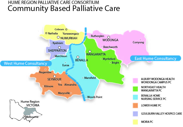 Hume region Palliative Care Consortium Map